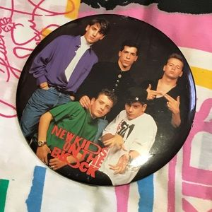 NKOTB large button 1990 tour